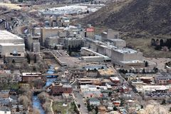 Coors plant in Golden, Co. An overall view of the Coors Plant in Golden, Co Stock Photography