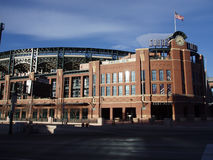 Coors Pole - Kolorado Baseball Rockies Fotografia Royalty Free
