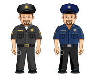 A cop in 2 uniforms. A cop dressed in uniforms of two different colors. EPS file available with this file Stock Image