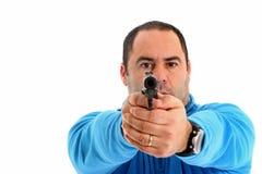 Cop avec le pistolet photographie stock libre de droits