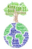COP 23 in Bonn, Germany with german text Royalty Free Stock Images
