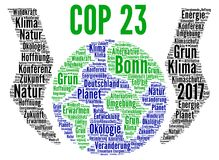 COP 23 in Bonn, Germany with german text Stock Photography