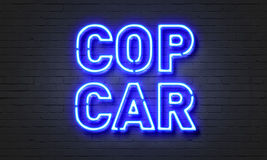 Cop car neon sign Stock Images