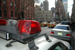 Cop car in New York. Parked police car at Manhattan Royalty Free Stock Image