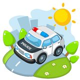 Cop car. Royalty Free Stock Image