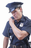 Cop communication Stock Image