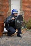 Cop d'émeute Images libres de droits