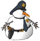 Cop de bonhomme de neige illustration stock