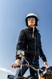 Cop de moto Photographie stock