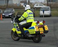 Cop de moto britannique Photographie stock libre de droits