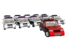 Cop de véhicules illustration libre de droits