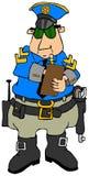 Cop die een kaartje schrijven Stock Fotografie
