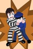 Cop et voleur illustration de vecteur