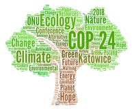 COP 24 in Katowice, Poland. Illustration Royalty Free Stock Images