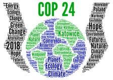 COP 24 in Katowice, Poland word cloud. Illustration vector illustration