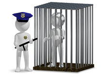 Cop and prisoner Stock Image