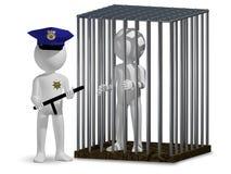 Cop and prisoner Stock Image