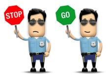 Cop van het verkeer stock illustratie