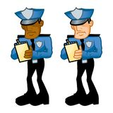 Law Enforcement Officers Writing Tickets vector illustration