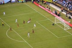 Copa在阿根廷和委内瑞拉之间的美国2016年 库存图片