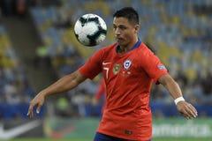 Copa América 2019: O Chile - Uruguai fotografia de stock