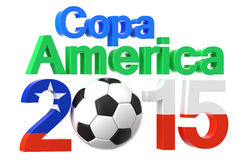 Copa America 2015 concept. Isolated on white background Royalty Free Stock Photos