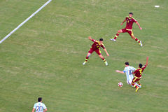Copa Ameryka 2016 między Argentyna i Wenezuela Zdjęcia Stock