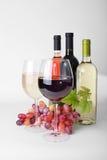 Copa, botellas de vino imagen de archivo libre de regalías