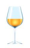 Copa con el vino blanco Fotografía de archivo