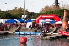 Copa de Nadal de Natacio open water swim in Barcelona Stock Photo