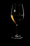 Copa de vino con la bebida en negro Imagen de archivo libre de regalías