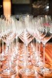 Copa de vino vacía Imágenes de archivo libres de regalías