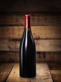 Copa de vino y botella Imagen de archivo
