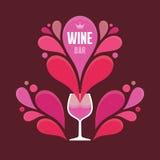 Copa de vino y esprayes abstractos - ejemplo del vector Foto de archivo