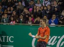 Copa del café - Casper Ruud viert het matchpunt dat tot hem kampioen maakte Royalty-vrije Stock Foto