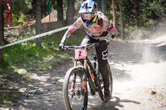 COPA DEL MUNDO UCI DE MONTAIN BIKE DOWNHILL 2018 stock images