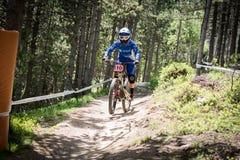 COPA DEL MUNDO UCI FAHRRAD ABWÄRTS 2019 DES MONTAIN lizenzfreie stockfotos