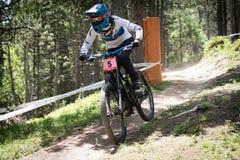 COPA DEL MUNDO UCI FAHRRAD ABWÄRTS 2018 DES MONTAIN stockfoto