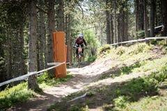 COPA DEL MUNDO UCI FAHRRAD ABWÄRTS 2018 DES MONTAIN lizenzfreie stockfotos