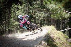 COPA DEL MUNDO UCI FAHRRAD ABWÄRTS 2018 DES MONTAIN lizenzfreies stockfoto