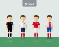 Copa 2016 soccer uniform group A. Flat design Royalty Free Stock Photo
