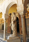 Copa Syrisca, Marble sculpture of Palace House of Pilate, Sevilla, Spain Royalty Free Stock Photos