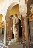 Copa Syrisca, Marmorskulptur des Palast-Hauses von Pilatus, Sevilla, Spanien Lizenzfreie Stockfotos