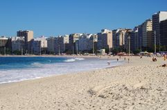 copacabana παραλιών στοκ εικόνα με δικαίωμα ελεύθερης χρήσης