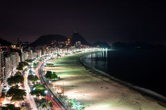 Copacabana на ноче Стоковые Фото