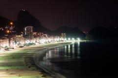 Copacabana на ноче Стоковое фото RF