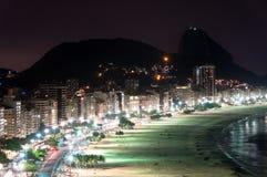 Copacabana на ноче Стоковое Фото