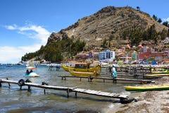 copacabana Озеро Titicaca bolivians стоковые фото