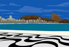Copacabana. Cartoon and illustration stock illustration