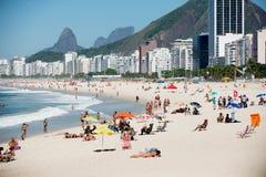 Copacabana海滩 免版税图库摄影